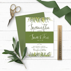 Evergreen Wedding Invitation Bundle