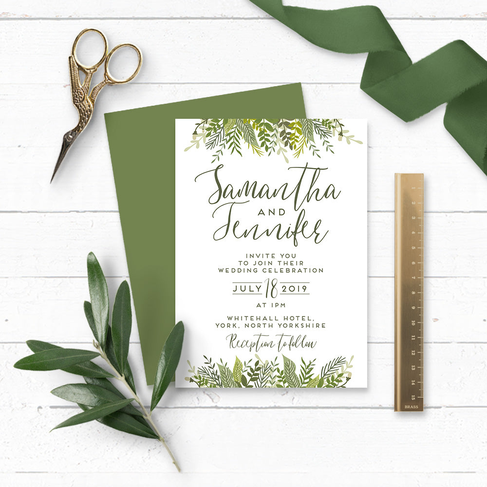 Evergreen Wedding Invitation Suite