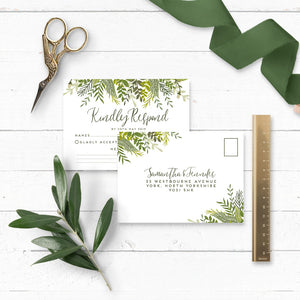 Evergreen Wedding RSVP