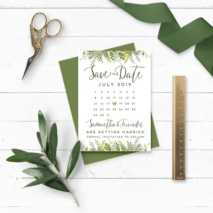 Evergreen Wedding Save the Date