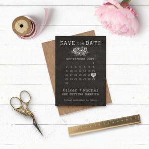 Floriana Chalkboard Wedding Save the Date