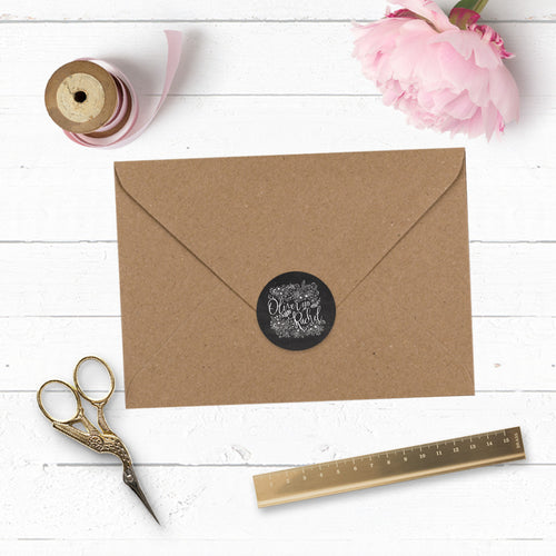 Floriana 37mm Envelope Sticker Seal