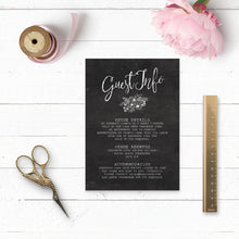 Load image into Gallery viewer, Floriana Chalkboard Details Card