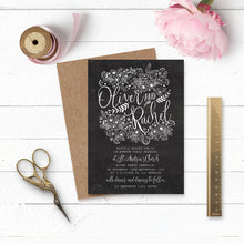 Load image into Gallery viewer, Floriana Chalkboard Wedding Invitation Suite