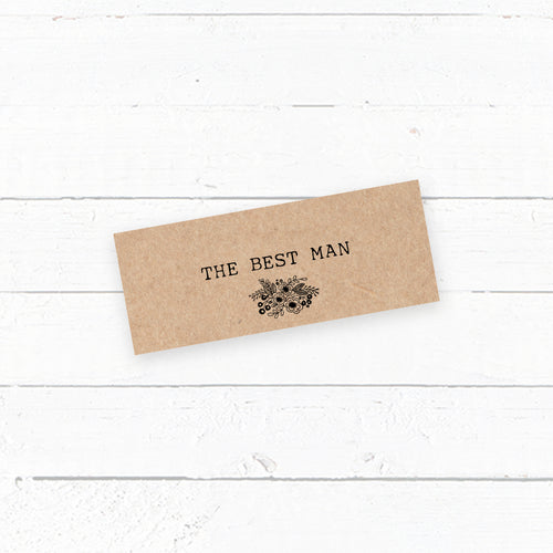 Floriana Kraft Tent Fold Wedding Place Card