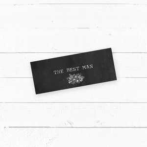 Floriana Chalkboard Wedding Tent Fold Place Card