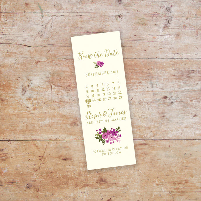 Happily Ever After Bookmark Save the Date