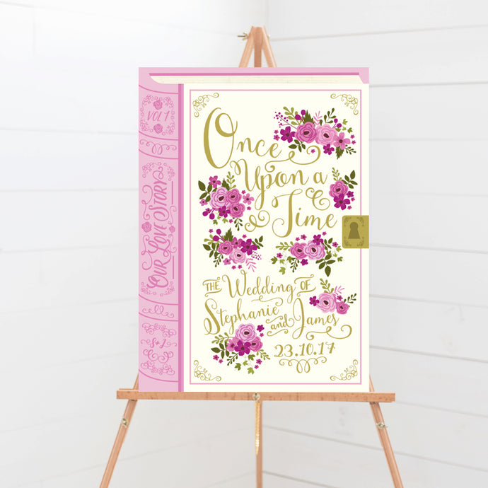 Fairytale Book Wedding Welcome Sign