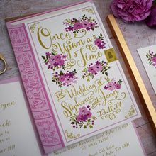 Load image into Gallery viewer, Happily Ever After Storybook Wedding Invitation