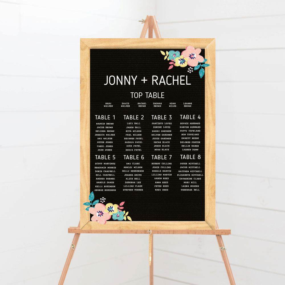 Letter board Wedding Table Plan