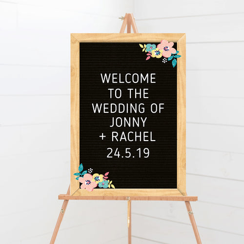 Letterboard Love Wedding Welcome Sign