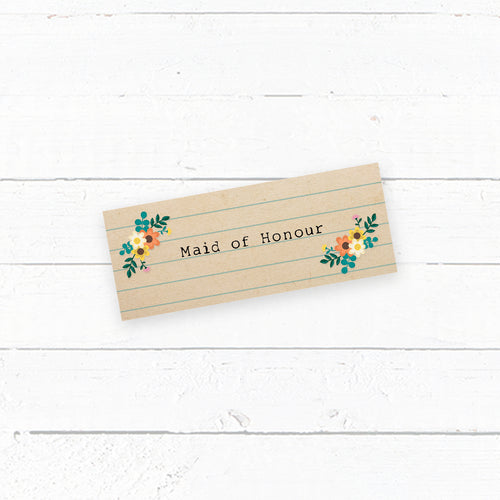 Love Story Wedding Tent Fold Place Card