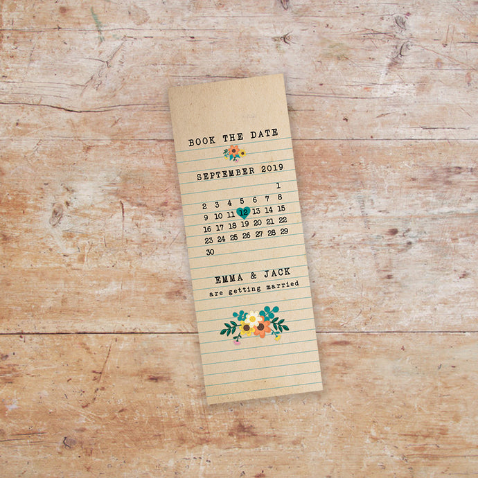 Love Story Bookmark Save the Date