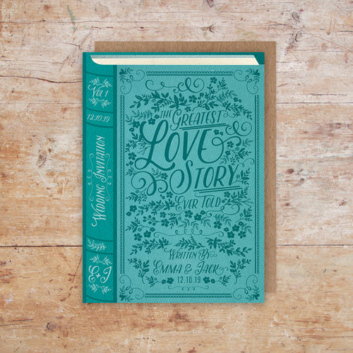 Love Story Storybook Wedding Invitation