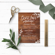 Load image into Gallery viewer, Rustic Chalkboard Wedding Invitation Suite