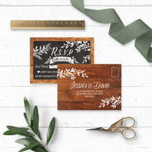 Load image into Gallery viewer, Rustic Chalkboard Wedding RSVP
