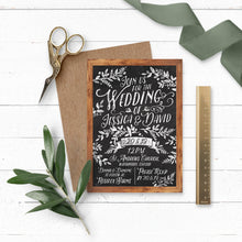 Load image into Gallery viewer, Rustic Chalkboard Wedding Invitation
