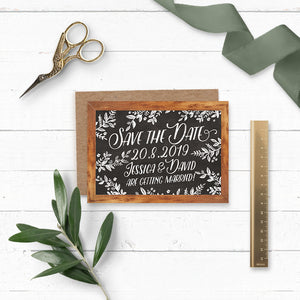 Rustic Chalkboard Wedding Save the Date