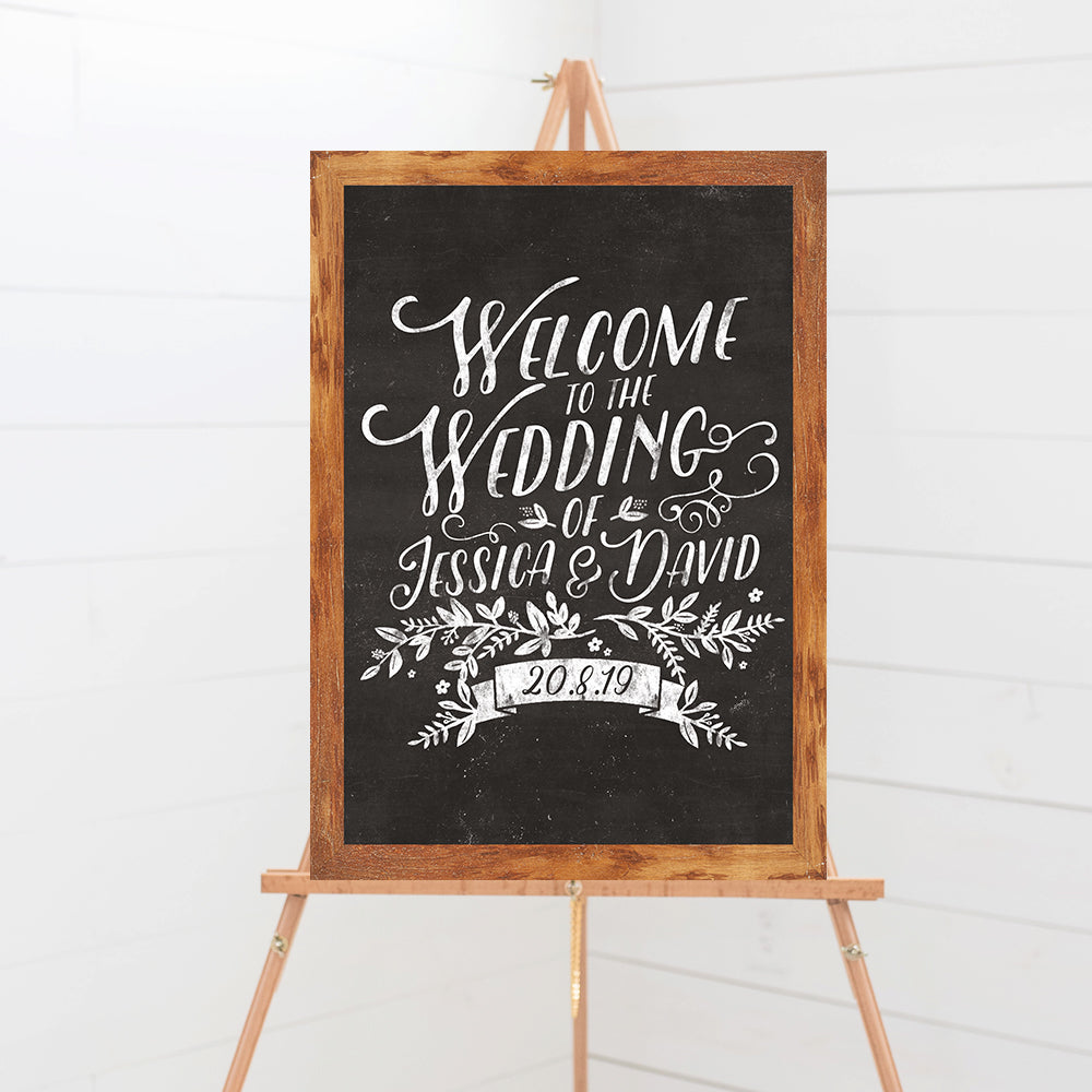 Rustic Chalkboard Wedding Sign