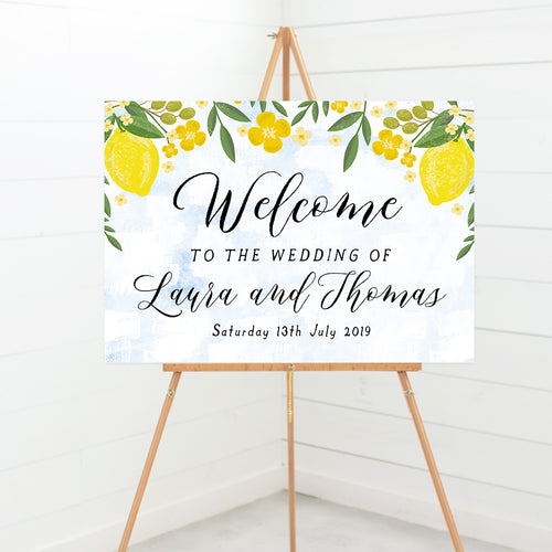 Sorrentino Wedding Welcome Sign