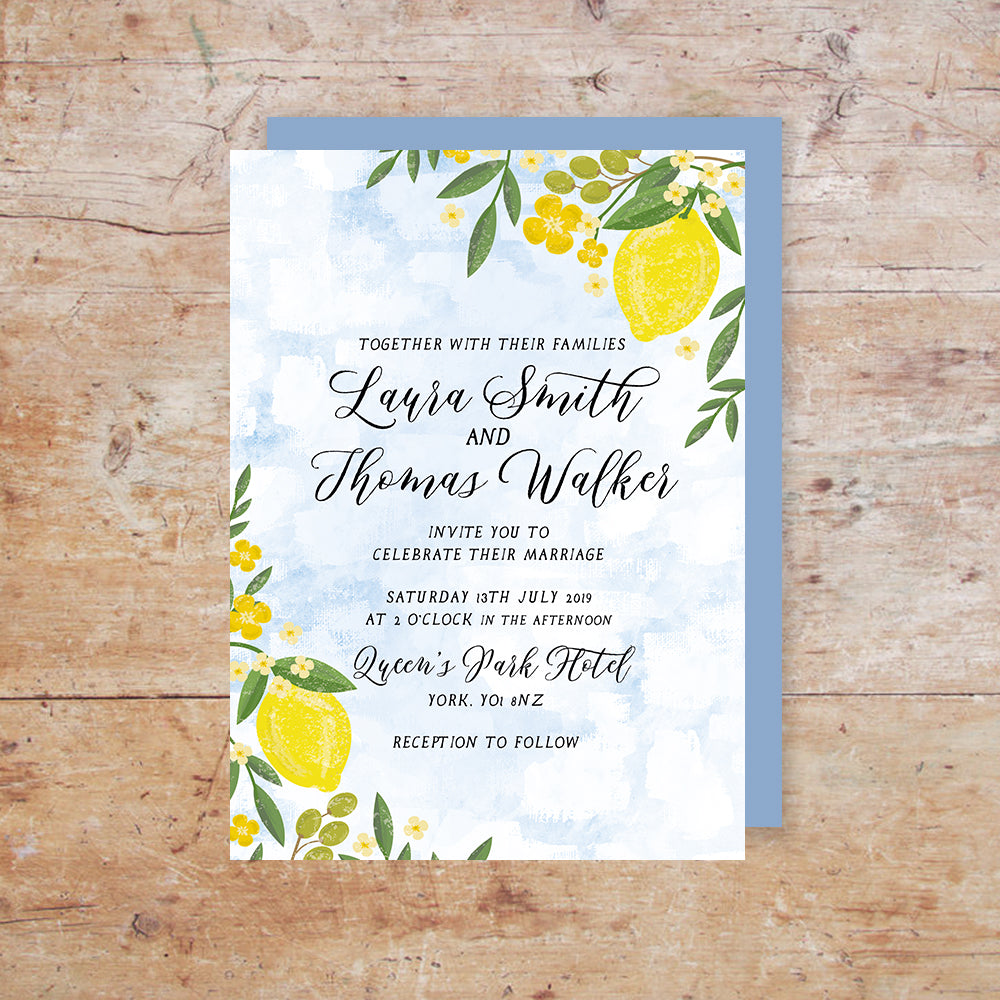 Sorrentino Wedding Invitation Suite – Darling Ivy Paper Stories
