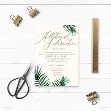 Load image into Gallery viewer, Tropical Botanics Watercolour Wedding Additional Details Card