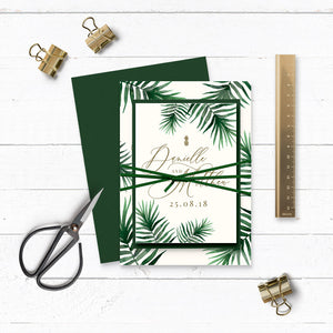 Tropical Botanics Watercolour Wedding Invitation Bundle