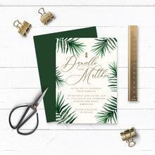 Load image into Gallery viewer, Tropical Botanics Watercolour Wedding Invitation & Envelope