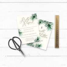 Load image into Gallery viewer, Tropical Botanics Watercolour Wedding RSVP