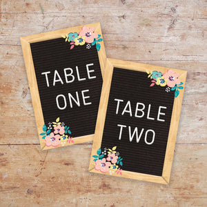 Letter board Love Table Names & Numbers
