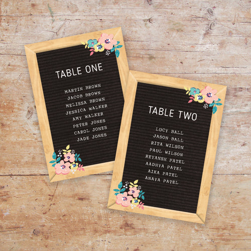 Letter Board Love Table Names Numbers Darling Ivy Paper Stories