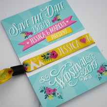 Load image into Gallery viewer, Personalised Wedstival Wedding Wristbands