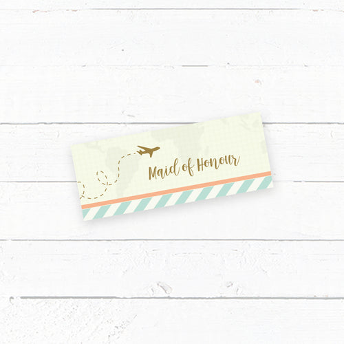 Wanderlust Wedding Tent Fold Place cards