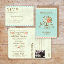 Load image into Gallery viewer, Wanderlust Wedding Passport Invitation Suite