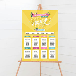 Wedstival Festival Wedding Table Plan