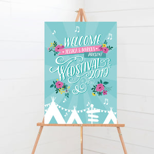 Wedstival Wedding Welcome Sign