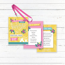 Load image into Gallery viewer, Wedstival VIP Pass Festival Wedding Lanyard