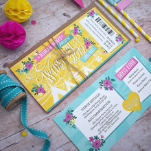 Load image into Gallery viewer, Wedstival Festival Ticket Wedding Invitation Suite