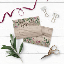 Load image into Gallery viewer, Rustic Winterberry Wedding RSVP