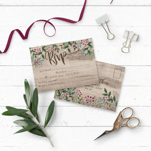Rustic Winterberry Wedding RSVP
