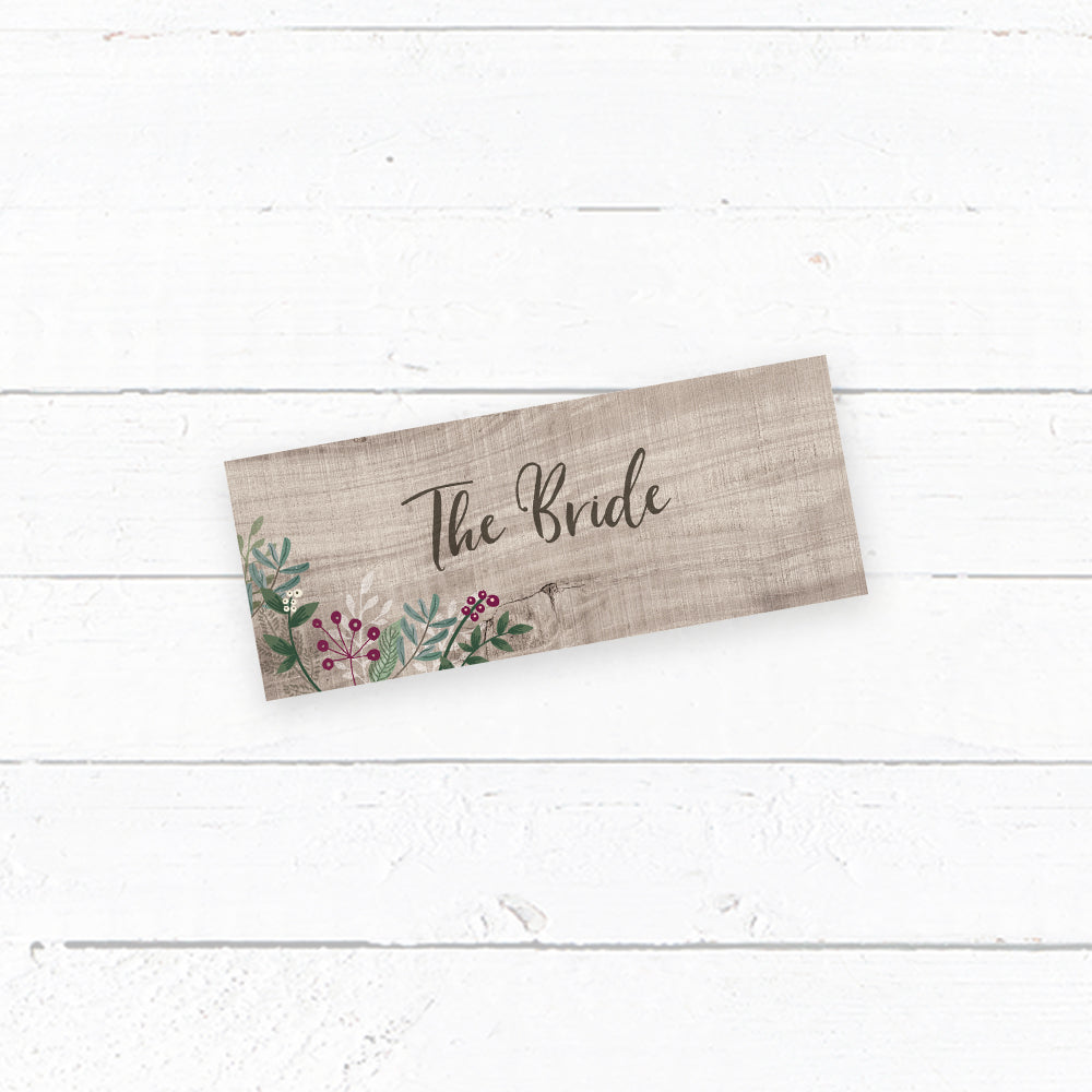Winterberry Tent Fold Place Card