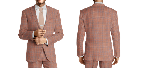 Corallo Orange Plaid