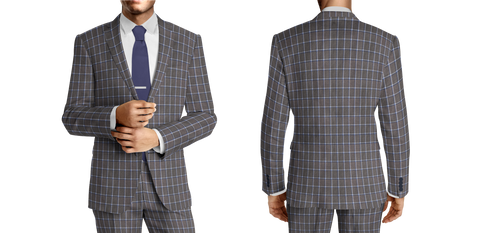 Duo-Square Blue & Grey Windowpane
