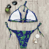 Paisley Print Frilled String Bikini Set,String bikinis,YOUR WISH LIST