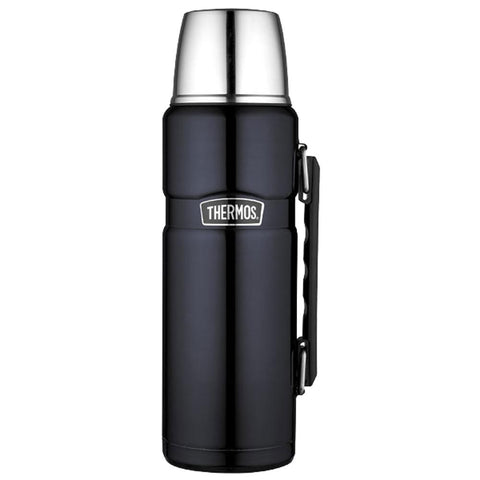 Thermos Stainless King™ Vacuum Insulated Beverage Bottle - 40 oz. - Stainless Steel-Midnight Blue