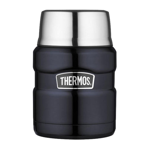 Thermos Stainless King™ Vacuum Insulated Food Jar - 16 oz. - Stainless Steel-Midnight Blue
