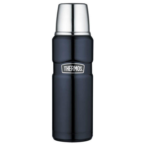 Thermos Stainless King™ Vacuum Insulated Beverage Bottle - 16 oz. - Stainless Steel-Midnight Blue