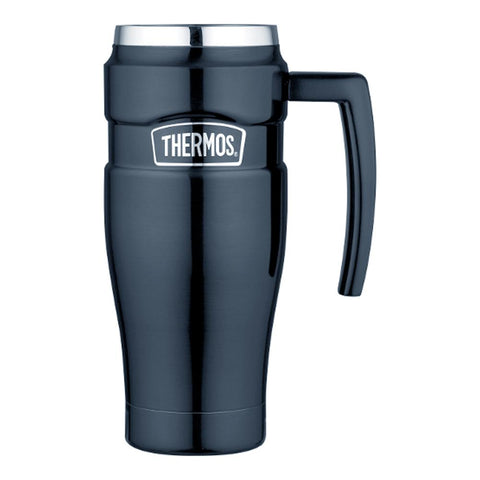 Thermos Stainless King™ Vacuum Insulated Travel Mug - 16 oz. - Stainless Steel-Midnight Blue