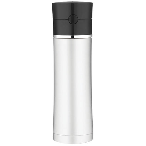 Thermos Sipp™ Vacuum Insulated Hydration Bottle - 18 oz. - Stainless Steel-Black