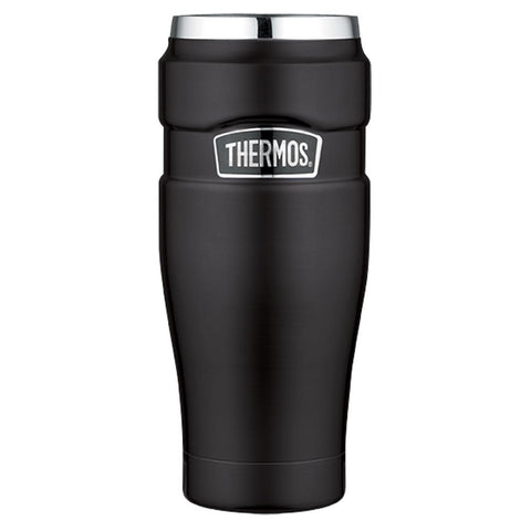 Thermos Stainless King™ Vacuum Insulated Travel Tumbler - 16 oz. - Stainless Steel-Matte Black